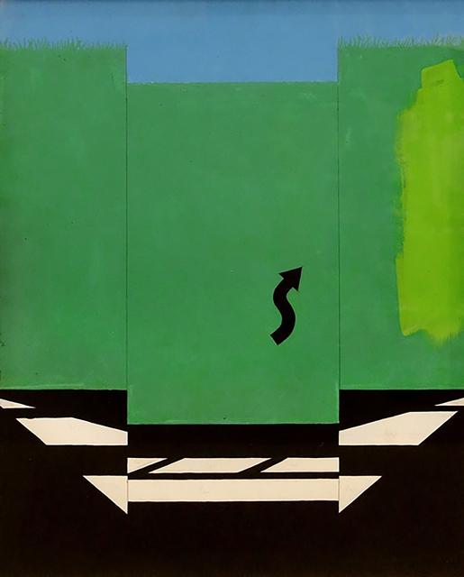 , 'Original study for the silkscreen, U.S. Highway 1,' 1965, Hollis Taggart
