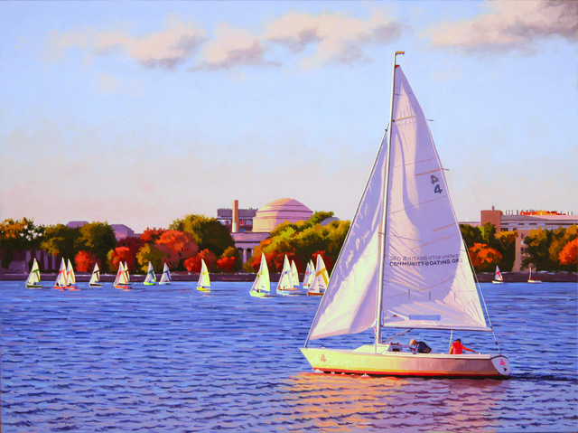 , 'Sailing the Charles,' , Copley Society of Art
