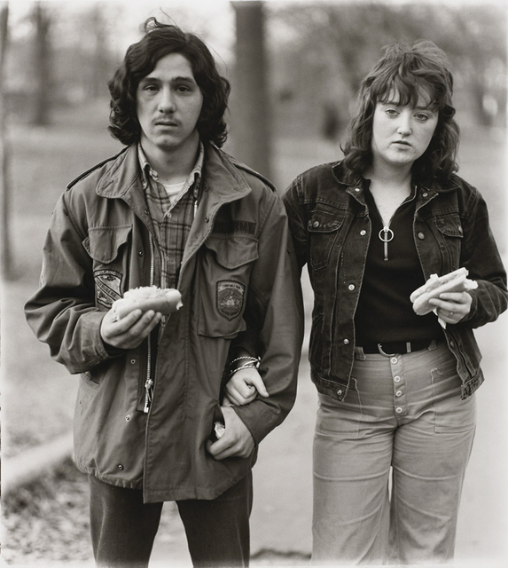 Diane Arbus, 'A young man and his girlfriend with hot dogs in the park, N.Y.C. 1971', 1971, ClampArt