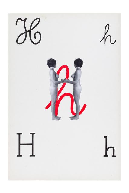 , 'Alfabetiere pop, H,' 1976, Tiziana Di Caro