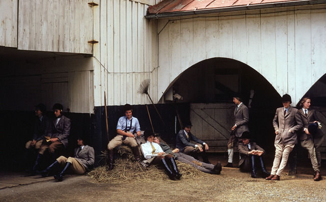 , 'The Girls of Foxcroft School Waiting at the Stables for their Horses, Virginia,' 1960, Staley-Wise Gallery