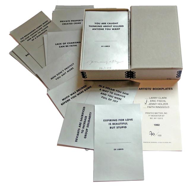 Jenny Holzer, 'Artists' Bookplates', 1992, Alternate Projects