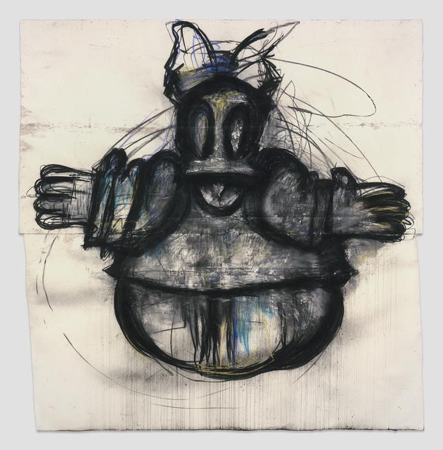 Joyce Pensato, 'Daisy', 2012, Drawing, Collage or other Work on Paper, Charcoal and pastel on paper, Petzel Gallery