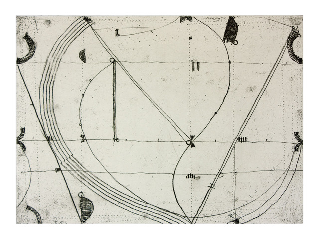 Caio Fonseca, 'Notations I', 1998, Print, Softground etching withchine collé, Paulson Fontaine Press