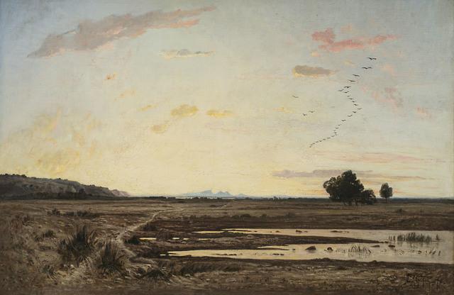 , 'La plaine de la Crau, effet de crépuscale (Provence) (The Plain of La Crau, Twilight Effect (Provence) ,' 1870, Jack Kilgore & Co.