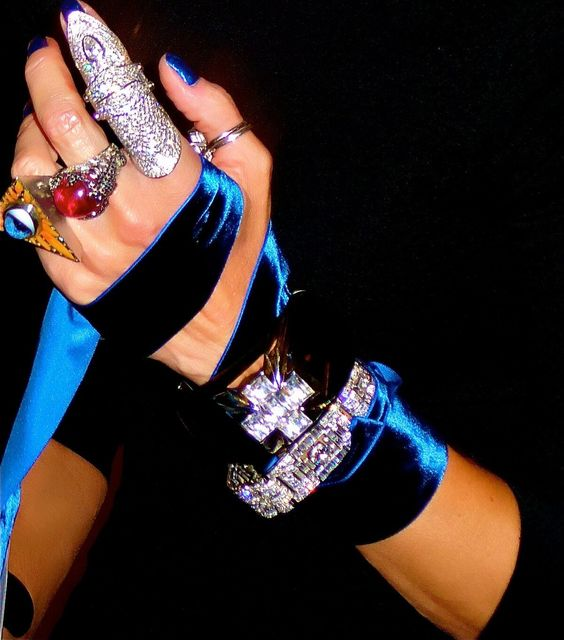 , 'Daphne Guiness's Bejeweled Hand,' 2011, Edelman Arts