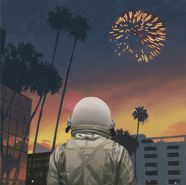 , 'City Fireworks,' 2017, Station 16 Gallery