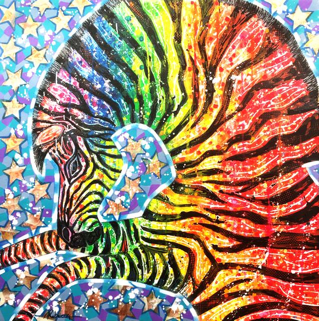 , 'The rainbow zebra - Le zèbre arc en ciel,' 2016, Galerie Artefact