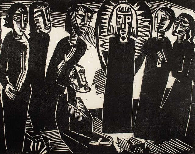 , 'Christus unter den Frauen,' 1919, R. S. Johnson Fine Art
