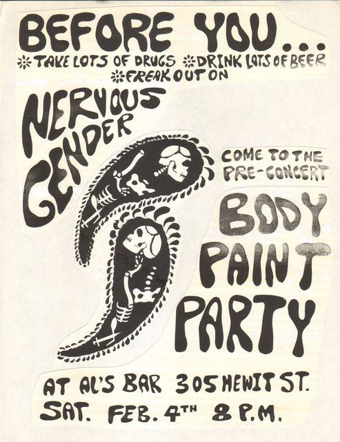 , 'Untitled Nervous Gender Gig Flyer #20,' , Coagula Curatorial