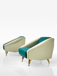 "Gio Ponti, 'Pair of ""Diamond"" Lounge Chairs from the Residence of Lisa Ponti, Milan, Italy,' circa 1953, Sotheby's: Important Design"
