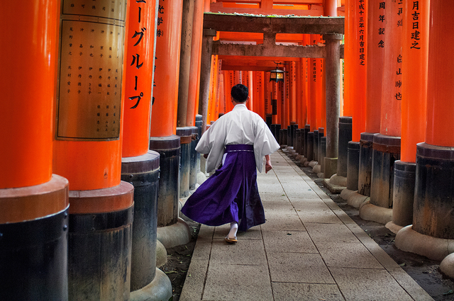 , 'Man Walks Through Fushimi Inari Shrine, Kyoto, Japan,' 2007, Cavalier Galleries