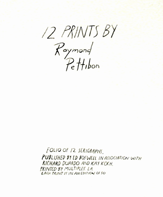 , 'Cover Sheet Tirage, Not signed, but limited to the number of portfolios in the edition,' 1990, David Lawrence Gallery
