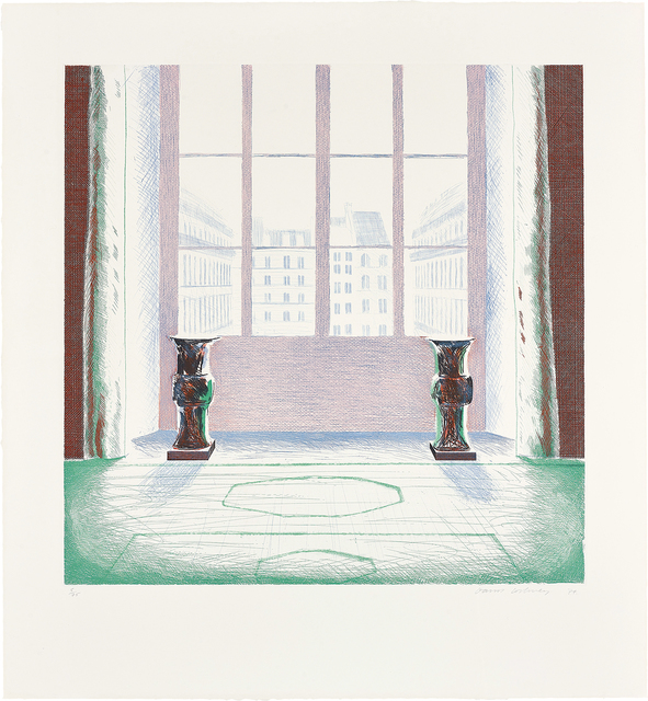 David Hockney, 'Two Vases in the Louvre', 1974, Phillips