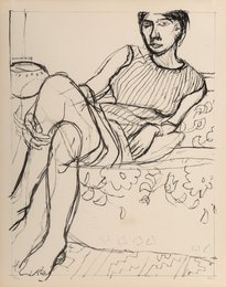 Seated Woman in a Striped Dress, from Seated Woman series