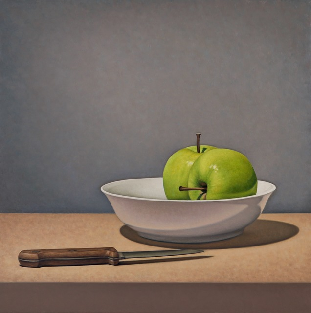 , 'Apples and Knife,' 2018, George Billis Gallery