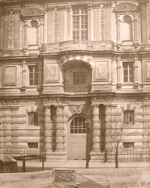 , 'Façade, Bibliothèque Impériale du Louvre,' ca. 1854, Robert Klein Gallery