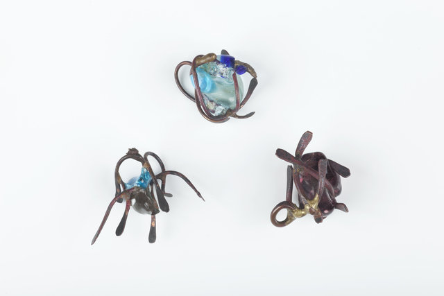 , 'Three copper and glass pendants,' ca. 1962, Didier Ltd.