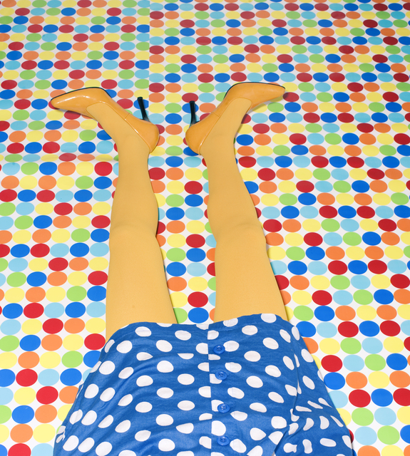 , 'Woman's Yellow Legs on Polka Dot Floor ,' , Getty Images Gallery