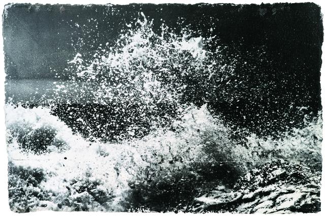 Shao Wenhuan 邵文欢, 'Crashing Waves II 激浪II', 2017, Photography, Photography, negative painting, silver halide gelatin emulsion, oil on canvas, Rasti Chinese Art