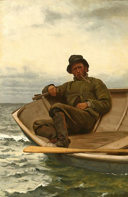 John George Brown, 'Homeward Bound', 1878, Painting, Oil on Canvas, The Illustrated Gallery