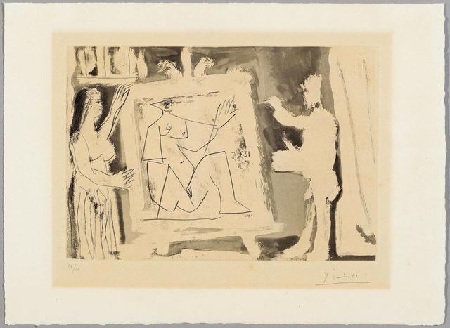 Pablo Picasso, 'Dans l'Atelier', 1965, Print, Aquatint and etching, Koller Auctions