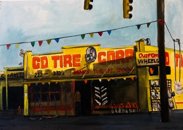 , 'CD Tire Shop,' 2018, Cinnabar