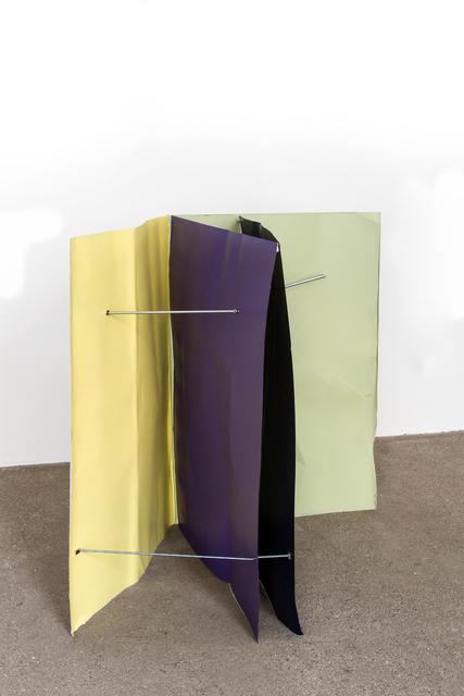 , 'Kobaltblau/Zinkgelb/Blaulila/Weißgrün (Flyer 4-teilig),' 2016-2018, Galerie Elisabeth & Klaus Thoman
