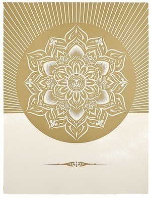 Shepard Fairey (OBEY), 'Obey Lotus Diamond (White & Gold)', 2013, Paul Stolper Gallery