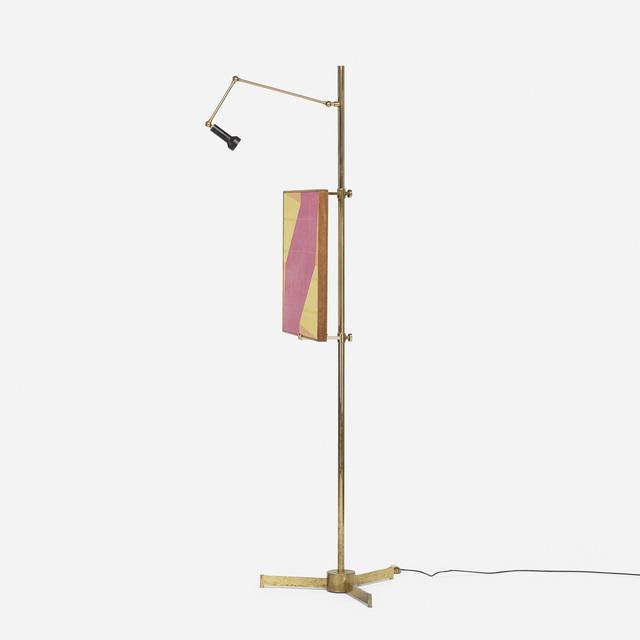 Arredoluce, 'easel lamp', c. 1958, Design/Decorative Art, Brass, enameled aluminum, Rago/Wright