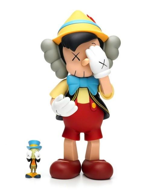 KAWS, 'Pinocchio & Jiminy Cricket', 2010, Other, Cast vinyl, MSP Modern Gallery Auction
