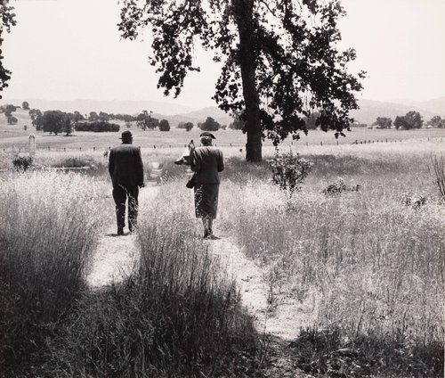, 'Couple at the Cemetery, from the Back, Berryessa Valley, from the series, Death of a Valley,' 1956-printed 1960, Scott Nichols Gallery
