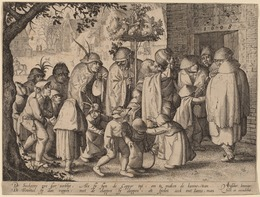 Claes Jansz Visscher, 'Procession of Feasting Lepers', 1608, Print, Etching, National Gallery of Art, Washington, D.C.