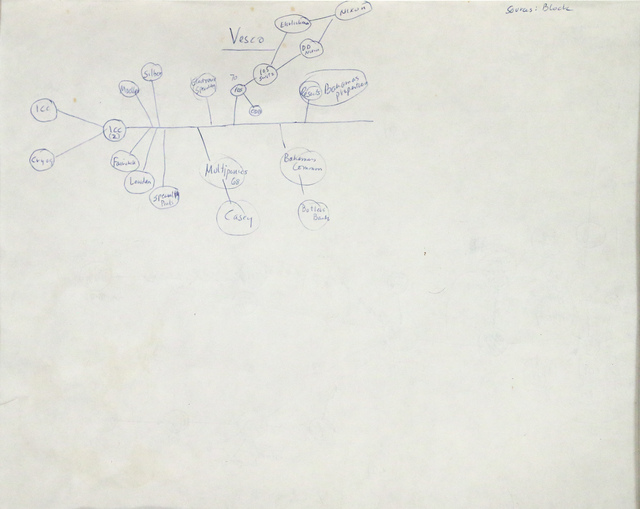, 'Mary Carter Resorts Study (verso of two-sided drawing),' ca. 1994, Pierogi