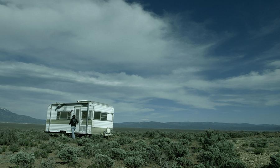 Debbie Long, 'Naima Trailer, Taos Mesa'. Photo: Wendy Shuey. Trailer, 2013. Trailer, Plywood, Light, Glass. 9 x 18 x 7.5 feet