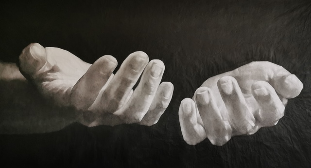 , 'I Have Two Empty Hands But I Know,' 2020, RED ZONE ARTS