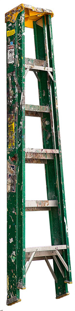 Jennifer Williams, 'Medium Folding Ladder: Green with Yellow Top and Paint', 2013, Robert Mann Gallery