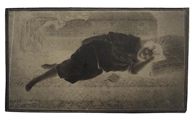 , 'La Lecture Negative (painting, 1850), photograph c.1855,' ca. 1855, James Hyman Gallery