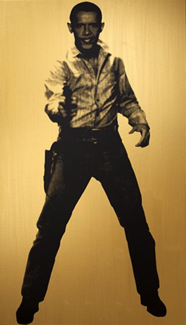, 'Obama Cowboy, Gold,' 2015, Roman Fine Art