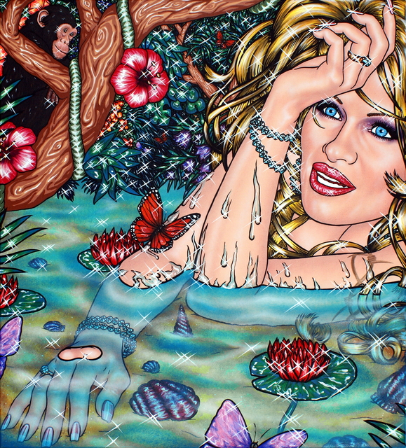 , 'Flamingo Lagoon 10,' 201 7, Kolja Kramer Fine Arts
