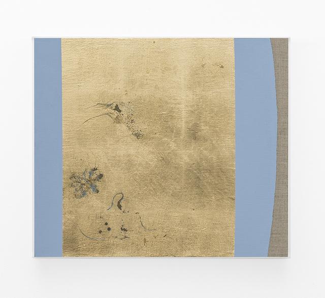, 'Hair orchid sweat print, azure blue form,' 2018, SMAC
