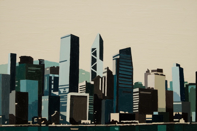 , 'Hong Kong Waterfront (Blue/Green) I,' 2016, Cynthia Corbett Gallery