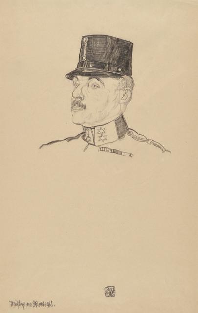, 'First Lieutenant Gustav Hermann,' 1916, Galerie St. Etienne