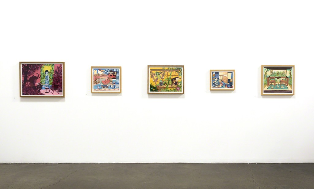 "Installation View, Andrew Chuani Ho, ""Days and Days,"" Richard Heller Gallery, Santa Monica, CA."