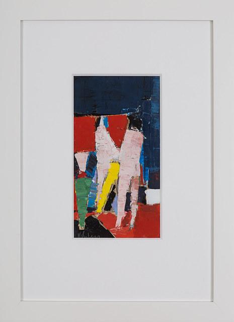 Peter Kinley, 'Standing Figure (II)', 1960, Painting, Oil on paper laid on card, Rosenberg & Co.