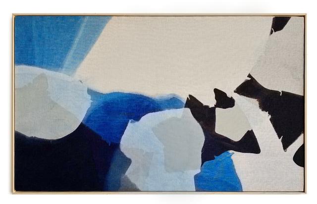 Carrie Crawford, 'Splendid Silent Sun', 2020, Painting, Indigo, logwood, oak gall, acorn, iron, and black walnut dye on linen, Uprise Art