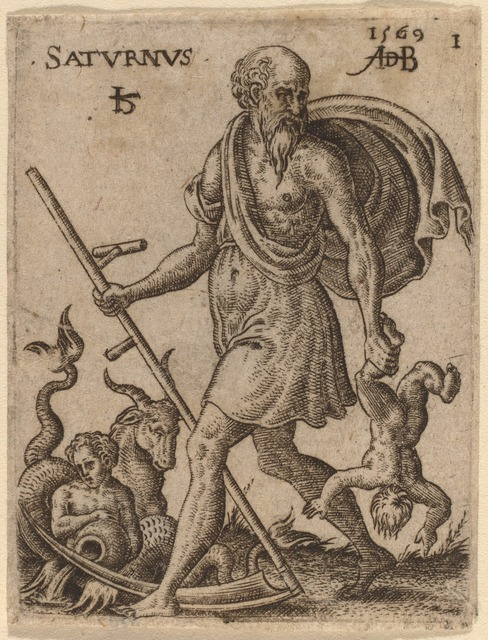 Abraham de Bruyn, 'Saturn', 1569, National Gallery of Art, Washington, D.C.