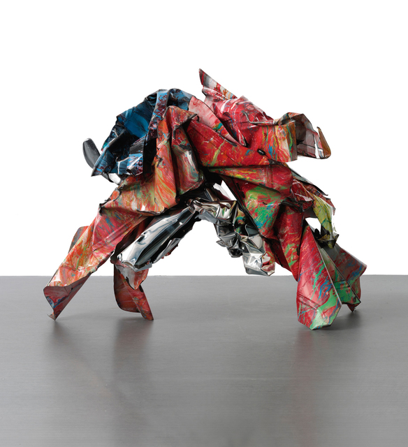 John Chamberlain, 'Yawning Yoni', 1989, Sculpture, Painted and stainless steel, Sotheby's: Contemporary Art Day Auction
