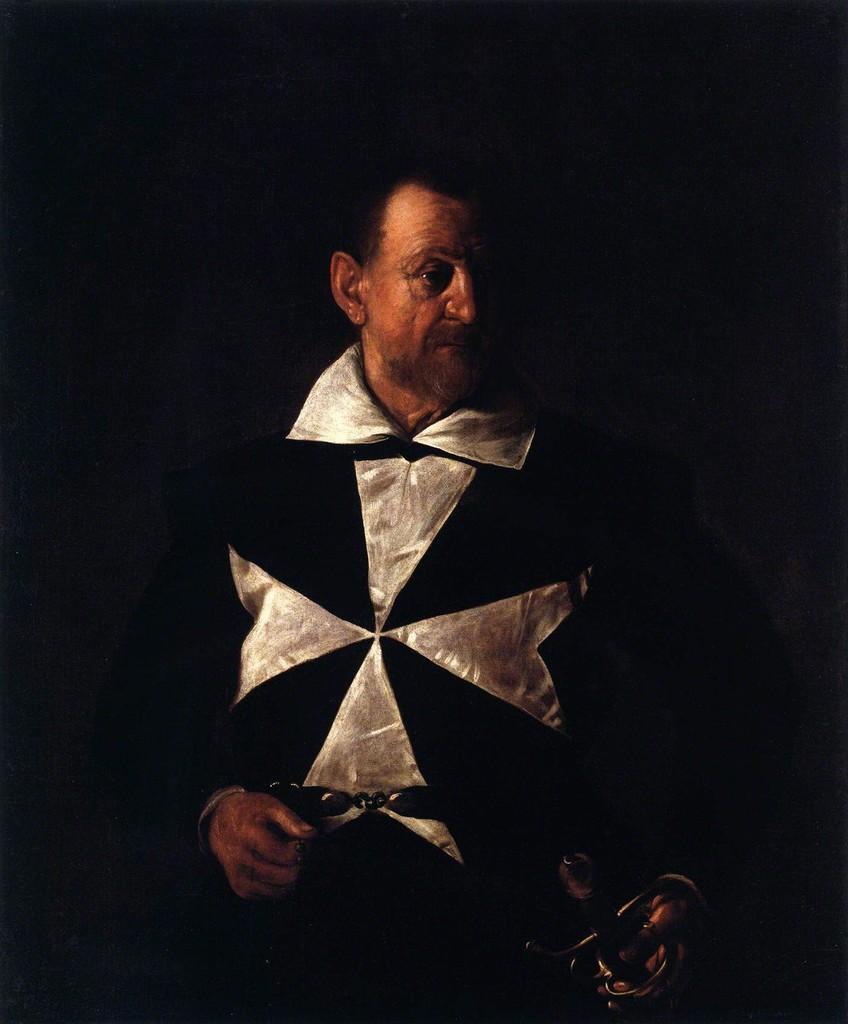 Caravaggio (Michelangelo Merisi) Ritratto di Antonio Martelli, Cavaliere di Malta 1608-1609 Palazzo Pitti, Firenze