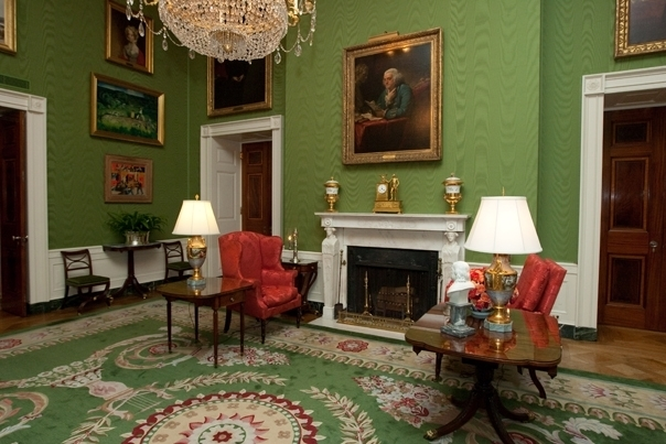 The Green Room of the White House. (Official WH Photo by Joyce Boghosian)